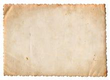 Documento in bianco della foto dell'annata isolato Fotografie Stock