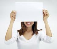 Documento in bianco per la pubblicità Fotografia Stock Libera da Diritti