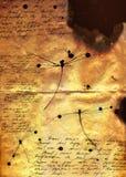 Documento bruciato Fotografie Stock Libere da Diritti