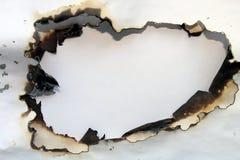 Documento bruciato Fotografia Stock Libera da Diritti