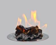 Documento Burning immagini stock