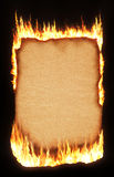 Documento Burning Fotografia Stock Libera da Diritti