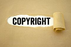 Documento com direitos reservados imagens de stock