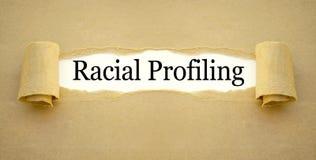 Documento com perfilamento racial fotografia de stock royalty free