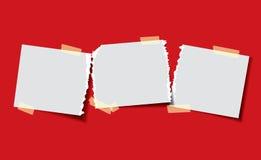 Documento con nastro adesivo appiccicoso Fotografia Stock