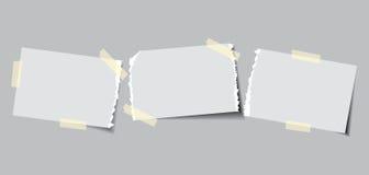 Documento con nastro adesivo appiccicoso Fotografia Stock Libera da Diritti