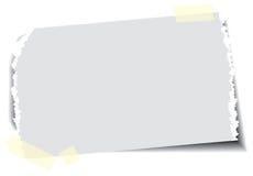 Documento con nastro adesivo appiccicoso Immagini Stock