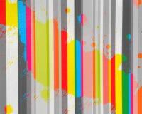 Documento con spruzzata dei colori di acqua Fotografie Stock Libere da Diritti