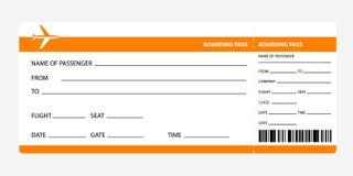 Documento de embarque anaranjado Fotografía de archivo libre de regalías