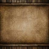 Documento de Grunge sobre el fondo de madera Imagen de archivo