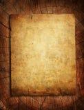 Documento de Grunge sobre tocón de árbol ilustración del vector