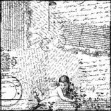 Documento de información del Victorian del collage del texto de la vendimia Imagenes de archivo