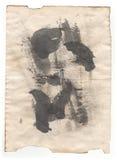 Documento de la antigüedad del viejo estilo sobre el fondo blanco imagen de archivo