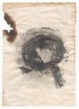 Documento de la antigüedad del viejo estilo sobre el fondo blanco imágenes de archivo libres de regalías
