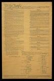 Documento de la constitución de los E.E.U.U. imagen de archivo