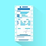 Documento de la cuenta financiera, pago de la orden de la factura Fotografía de archivo libre de regalías