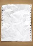 Documento de la cuenta sobre el papel reciclado Foto de archivo libre de regalías