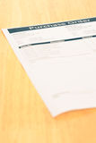 Documento de la forma de orden de compra Foto de archivo
