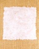 Documento de la mora sobre textura del saco Fotos de archivo libres de regalías
