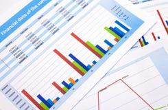 Documento de negocio datos de las finanzas Imagen de archivo libre de regalías