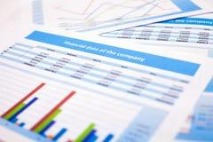 Documento de negocio datos de las finanzas Imagen de archivo