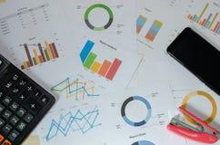 Documento de negocio financiero imagen de archivo libre de regalías