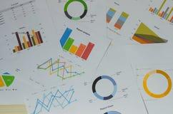 Documento de negocio financiero fotos de archivo