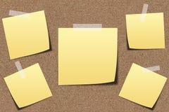 Documento de nota sobre tablero de la arena Fotografía de archivo
