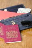 Documento de viaje foto de archivo
