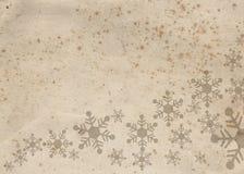Documento decorato per la cartolina di Natale Fotografie Stock Libere da Diritti