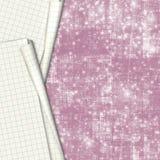 Documento del cuaderno de la escuela de las hojas sobre fondo abstracto Imagen de archivo