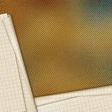 Documento del cuaderno de la escuela de las hojas sobre fondo abstracto Imágenes de archivo libres de regalías