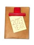 Documento del cuaderno sobre una tarjeta de clip. Fotos de archivo libres de regalías