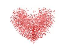Documento del cuore Fotografia Stock Libera da Diritti