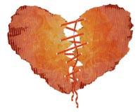 Documento del cuore con una burocrazia Fotografia Stock Libera da Diritti