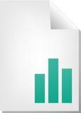 Documento del diagramma a colonna illustrazione di stock