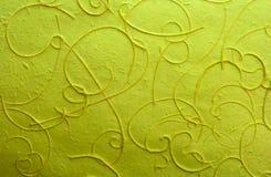 Documento del gelso dell'indicatore luminoso verde con la riga pasta di cellulosa Fotografia Stock Libera da Diritti
