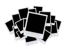Documento del Polaroid su bianco Fotografie Stock