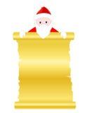 Documento del rotolo del Babbo Natale Fotografia Stock