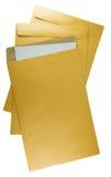 Documento del sobre de Brown en un fondo blanco Imágenes de archivo libres de regalías