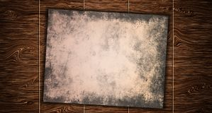 Documento del vintage sobre la mesa de madera vieja de la tabla imagen de archivo libre de regalías