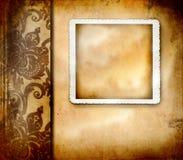Documento dell'annata con abbondanza di copyspace Fotografia Stock