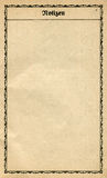 Documento dell'annata da un vecchio taccuino. immagine stock
