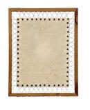 Documento dell'annata del foglio del trifoglio fotografie stock libere da diritti
