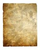 Documento dell'annata isolato con il percorso di residuo della potatura meccanica Immagini Stock Libere da Diritti