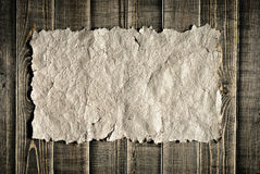 Documento dell'annata su struttura di legno Immagini Stock Libere da Diritti