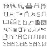 Documento dell'icona illustrazione di stock