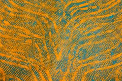 Documento dell'inserimento: Arancio ed azzurro fotografia stock
