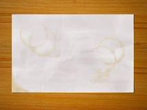 Documento della macchia del caffè Fotografia Stock