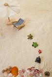 Documento della sabbia con la decorazione fotografia stock